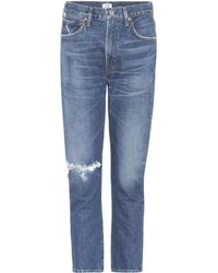 Citizens of Humanity - Dree Crop High Rise Slim Straight Jeans - Lyst