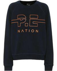 P.E Nation Sweatshirt Swingman aus Baumwolle - Blau