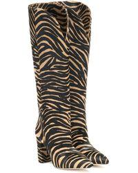 Paris Texas Zebra-print Calf Hair Knee-high Boots - Natural