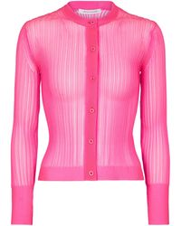 Cecilie Bahnsen Felicity Ribbed-knit Cardigan - Pink