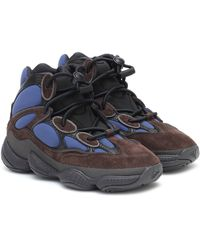 adidas Originals Baskets YEEZY 500 High en daim et cuir - Bleu