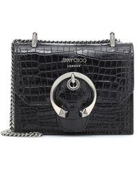 Jimmy Choo Schultertasche Paris Mini aus Leder - Schwarz