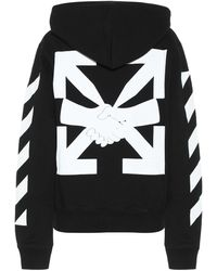 Off-White c/o Virgil Abloh Hoodie Agreement aus Baumwolle - Schwarz