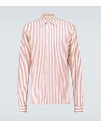 Marni Camisa de punto fino a rayas - Rosa