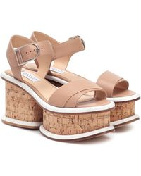 Gabriela Hearst Harrigan Leather And Cork Sandals - Multicolor