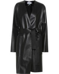 Loewe Leather Coat - Black