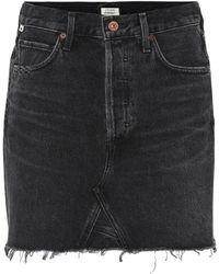 Citizens of Humanity Minifalda Astrid de jeans - Negro