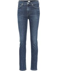 Citizens of Humanity Harlow High-rise Slim Jeans - Blue