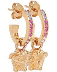Versace Argollas La Medusa con cristales - Metálico