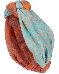 Missoni Kopftuch aus Strick - Mehrfarbig
