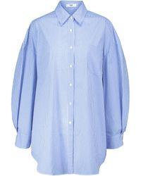 Frankie Shop Oversize-Hemd Melody aus Baumwolle - Blau