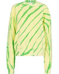 Proenza Schouler Sweat-shirt White Label en coton tie & dye - Jaune