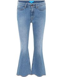 M.i.h Jeans Marty High-rise Flared Jeans - Blue