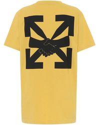 Off-White c/o Virgil Abloh - T-shirt Agreement en coton à logo - Lyst