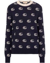 Gucci GG Wool Jacquard Jumper - Blue