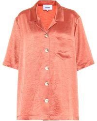 Nanushka Hemd Ella aus Satin - Pink