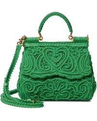 Dolce & Gabbana Sac Sicily Mini en dentelle - Vert
