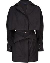 Jacquemus La Robe Terraio Cotton-blend Minidress - Black