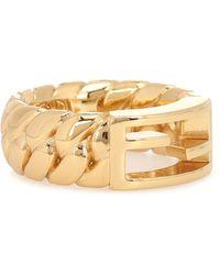 Fendi Baguette Large Ring - Metallic