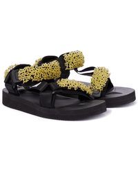 Cecilie Bahnsen Exclusive To Mytheresa – X Suicoke Maria Embellished Sandals - Multicolour