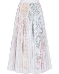 Alaïa Falda midi en mezcla de algodón - Multicolor