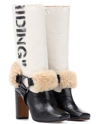 Off-White c/o Virgil Abloh - Riding Leather Boots - Lyst