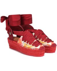 Etro Exclusive To Mytheresa – Floral Espadrilles - Red