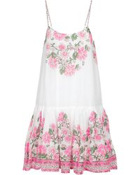 Juliet Dunn Bedrucktes Minikleid aus Baumwolle - Weiß