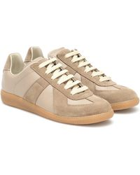 Maison Margiela Replica Cut-out Sneakers - Natural