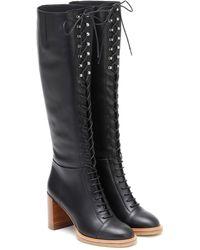 Gabriela Hearst Pat 75 Knee-high Boots - Black