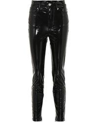 Unravel Project Pantalon skinny en vinyle - Noir