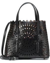 Alaïa Mina Mini Leather Tote - Black