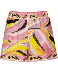Emilio Pucci Printed Cotton Shorts - Multicolour