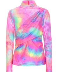 Sies Marjan Top Peyton con motivo tie-dye - Multicolor