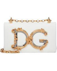 Dolce & Gabbana Sac à bandoulière DG Girls Mini en cuir - Blanc