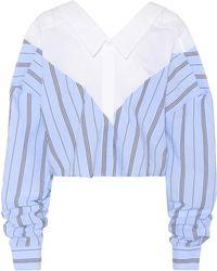 Unravel - Striped Cotton-blend Blouse - Lyst