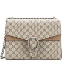 Gucci | Dionysus Gg Supreme Medium Coated Canvas And Suede Shoulder Bag | Lyst
