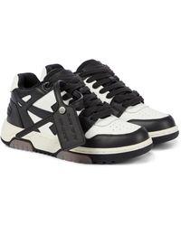 Off-White c/o Virgil Abloh Sneakers Out Of Office aus Leder - Schwarz