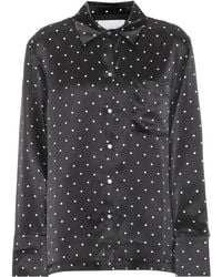Asceno - Dotted Silk Pajama Top - Lyst
