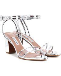 Tabitha Simmons - Leticia Metallic Pvc Sandals - Lyst