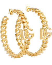 Dolce & Gabbana Dg Hoop Earrings - Metallic
