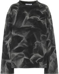 Acne Studios Sweatshirt aus Baumwoll-Jersey - Schwarz