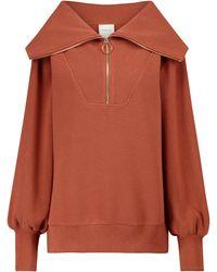 Varley Vine Cotton-blend Sweater - Brown