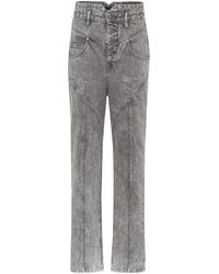 Isabel Marant Exclusive To Mytheresa – Anastasia High-rise Straight Jeans - Gray