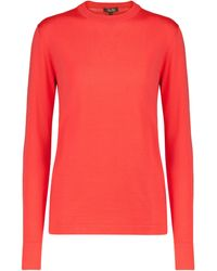 Loro Piana Ventotene Silk-blend Jumper - Red