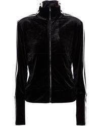 Norma Kamali Velvet Track Jacket - Black