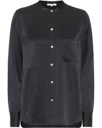 Vince Silk-satin Shirt - Black