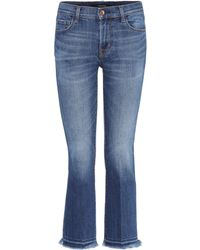 J Brand - Mid-Rise Bootcut Jeans Selena - Lyst