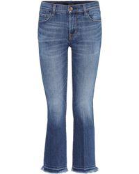 J Brand   Selena Bootcut Cropped Skinny Jeans   Lyst