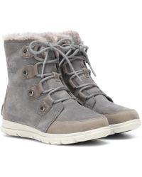 Sorel Explorer Joan Suede Boots - Grey
